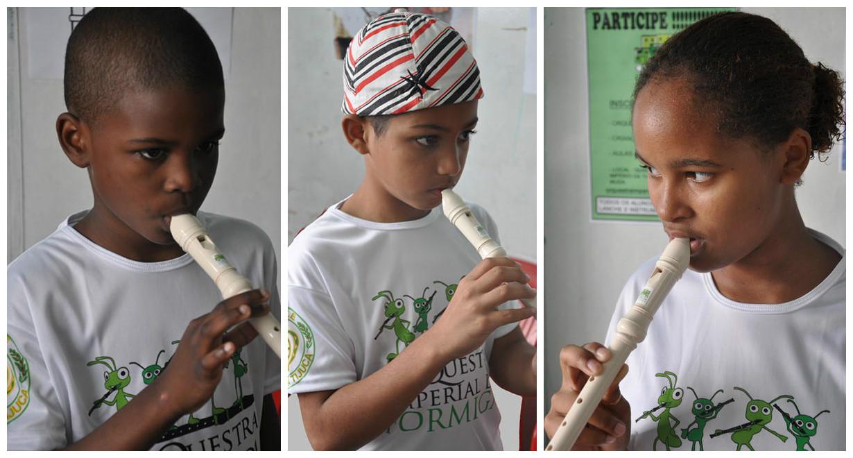 Corrente do Amor: diretor artístico de escola de samba cria orquestra para tirar crianças da rua