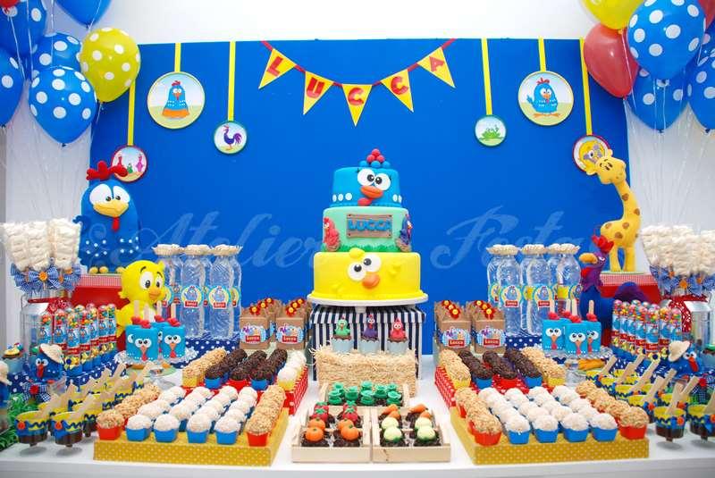 Decoraç u00e3o Infantil ideias para festa de aniversário da Galinha PintadinhaBlog Moda Infantil # Decoração De Festa Infantil Da Galinha Pintadinha Rosa