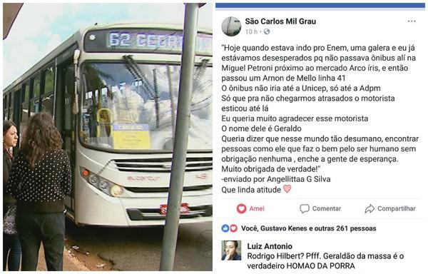 Corrente do Amor: motorista de ônibus muda rota para estudantes chegarem a tempo para o Enem