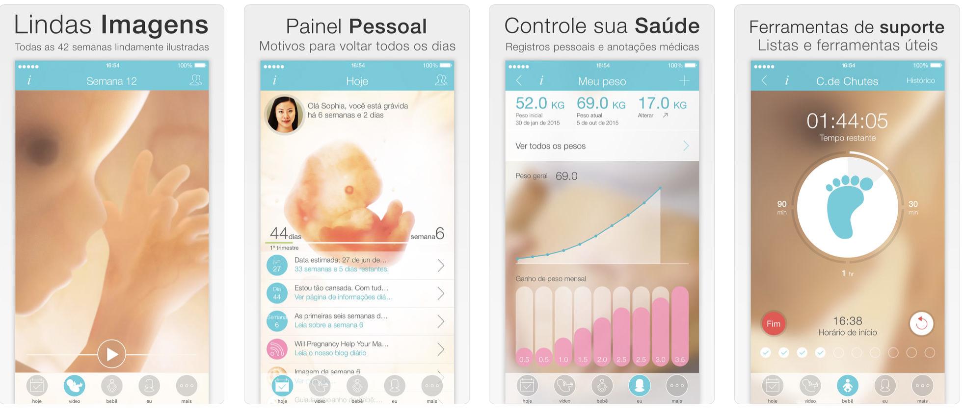 4 aplicativos para acompanhar a gravidez