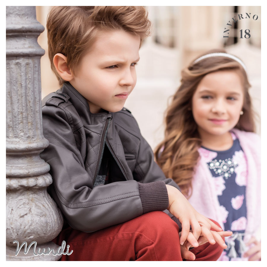 Jaquetas em couro sintético: um clássico que vai deixar os pequenos um charme neste inverno