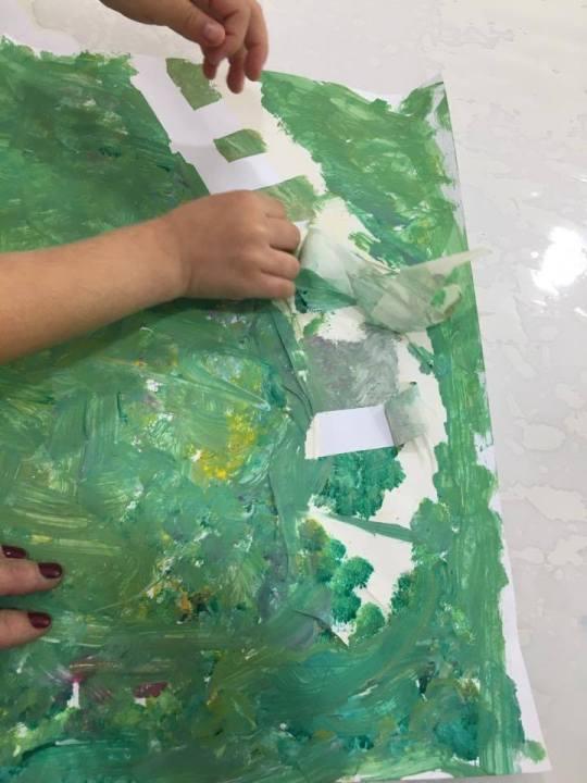 Faça Você Mesmo: pintura com fitas adesivas