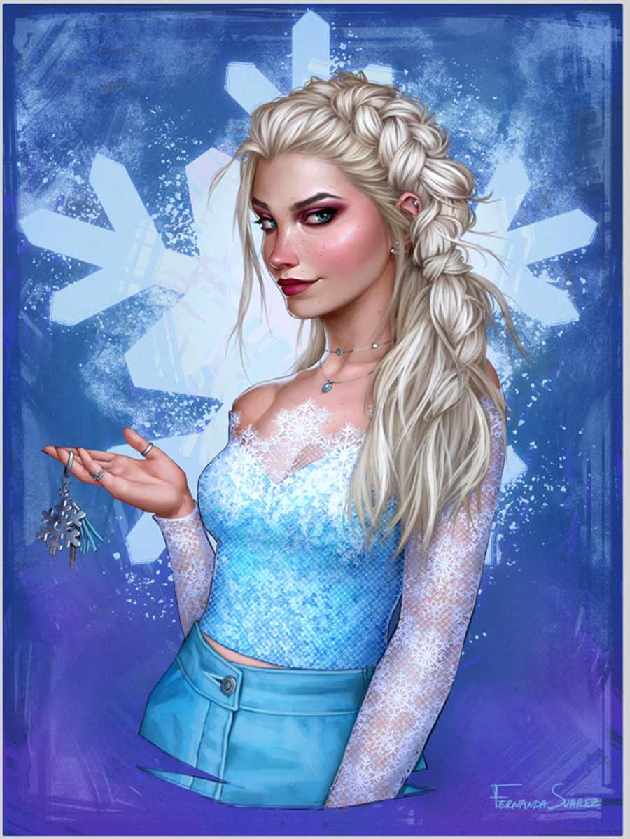Ilustradora chilena cria versões modernas das princesas da Disney