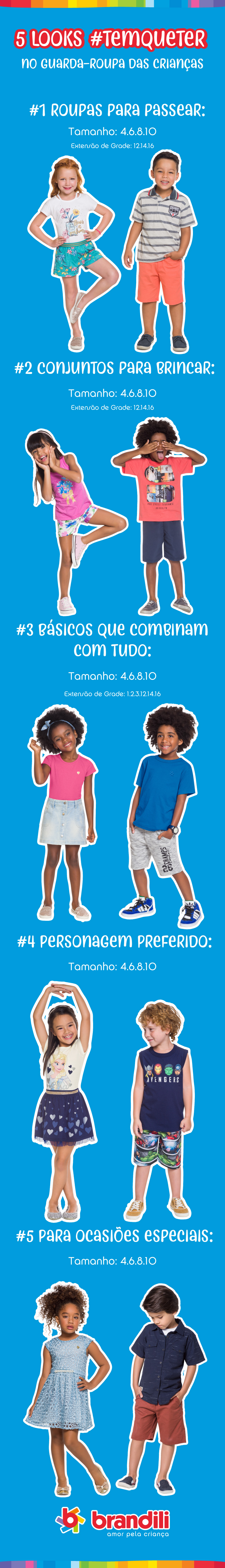 Verão: 5 Looks #temqueter no guarda-roupa das crianças
