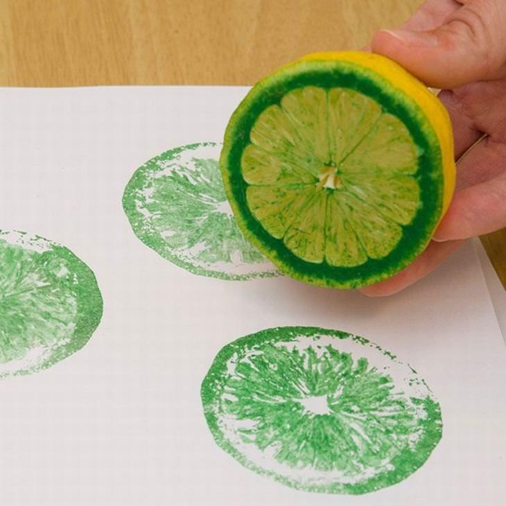 Faça Você Mesmo: carimbos com textura de frutas