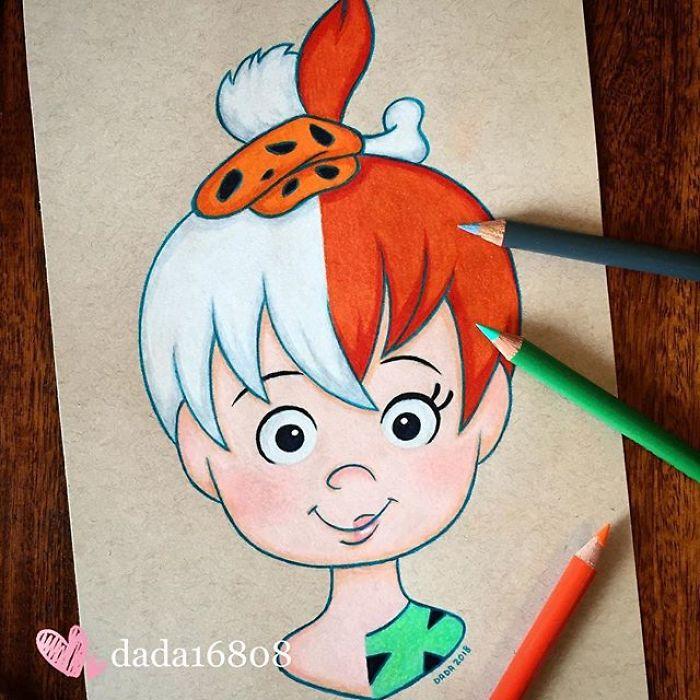Ilustradora mistura dois personagens em um só desenho