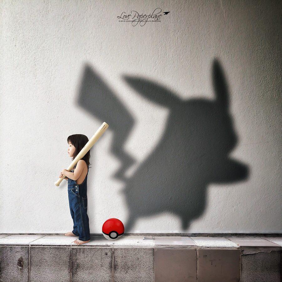 Fotógrafa cria imagens com sombras para representar a imaginação da filha