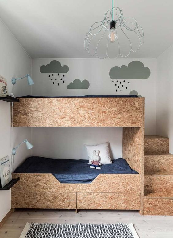 Inspirações de quarto infantil com beliche