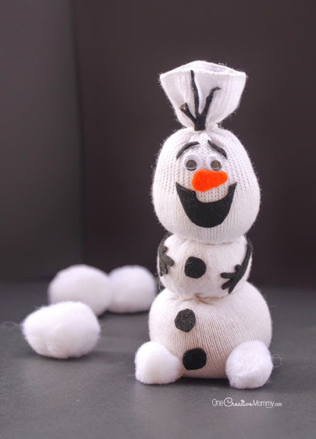DIY: aprenda como fazer um Olaf feito de meias