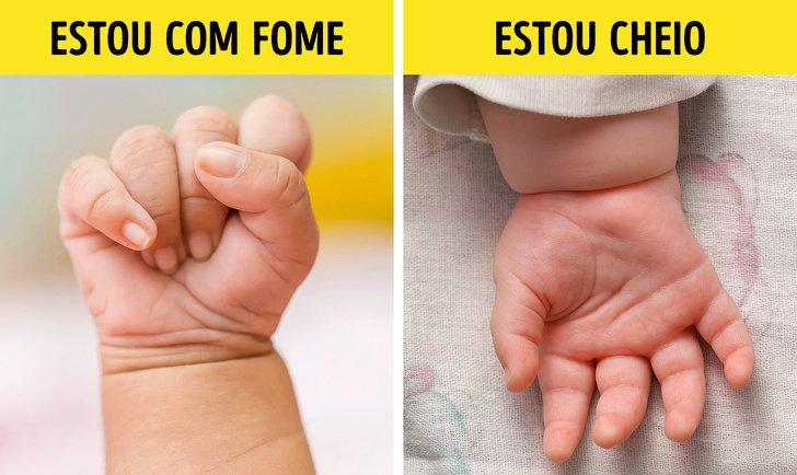 Sinais que os bebês usam enquanto não sabem falar