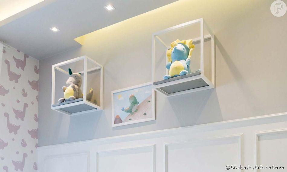 Davi Lucca escolhe tema de quarto de irmãozinho: Dinossauros