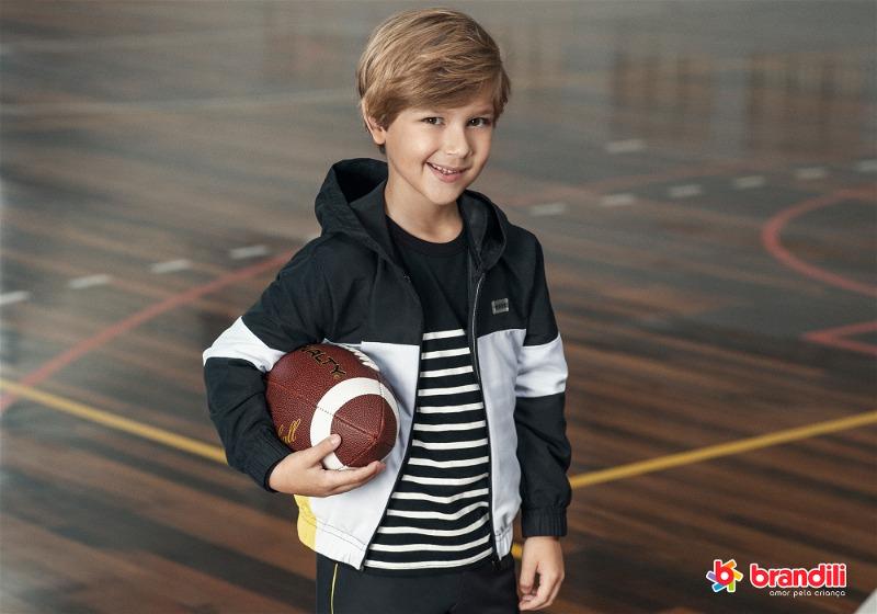 jaqueta infantil look esporte